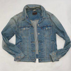 Levis Womens size M Blue Denim Trucker Jean Jacket